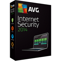 AVG 2014 Internet Security 3 pcs 4 year validity
