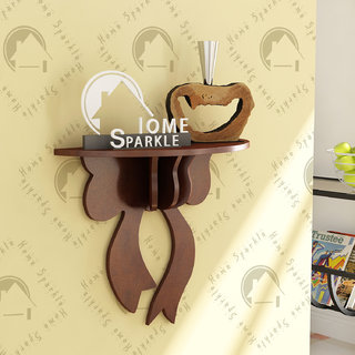 Home Sparkle Wooden Carved Wall Shelf
