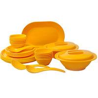 Incrizma Yellow 32 Pcs Round Dinner Set