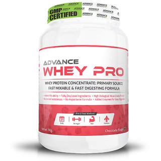 Advance Nutratech Advance Whey Pro Protein Powder 1Kg (2.2Lbs) Chocolate Flavour