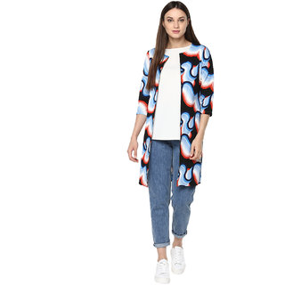 Soie WomenS Multicoloured Causal Jacket