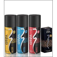 VI-JOHN Cobra Deo Cool & Naughty & Day Time + Cobra Perfume 30ml