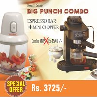 Mouse Over Image To Zoom Combo-of-Espresso-Coffee-Maker-Mini-Chopper-Mixer-By-C