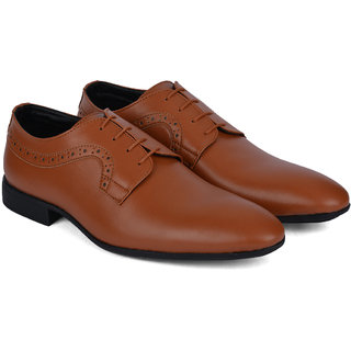 Ziraffe PAVEL Genuine Leather Tan Mens Formal Shoes