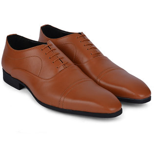 Ziraffe ELIXIR Genuine Leather Tan Mens Formal Shoes