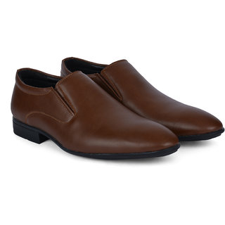 Ziraffe STAHL Genuine Leather Tan Mens Formal Shoes