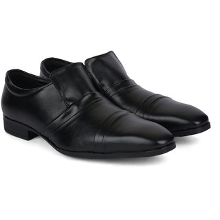 Ziraffe QUEBEC Genuine Leather Black Mens Formal Shoes