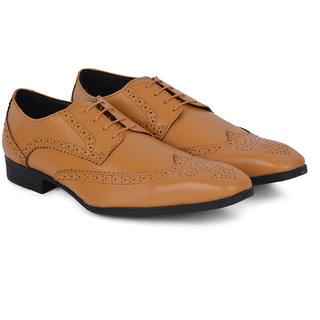 Ziraffe BORIS Genuine Leather Camel Mens Brogue Formal Shoes