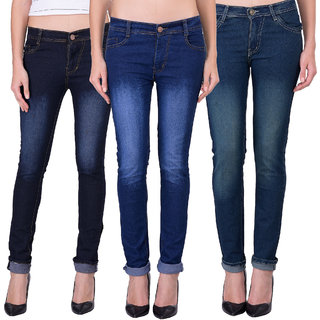 Balino London Multicolor Denim Jeans For Women (Set of 3)