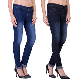 Balino London Multicolor Denim Jeans For Women (Set of 2)