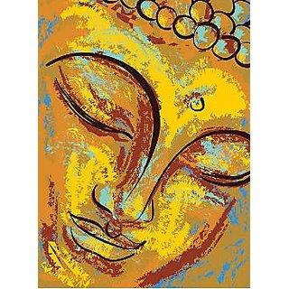 Portrait of Buddha - Illustr, Religion, Spirituality 12x18 inches Wallpaper