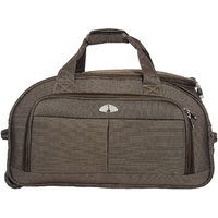 Adonai WL 1302 Brown Duffle Bag With Trolley Set Of 3 Piece