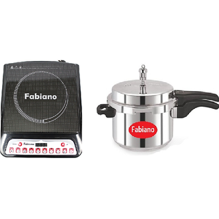 Fabiano Combo - 2000W Induction cooktop + 3L induction based Outer Lid Cooker