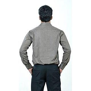 Dennison Arrow Dark Grey Plain Texture Mens Formal Shirt