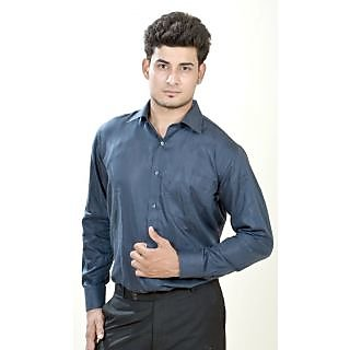 Dennison Arrow Dark Blue Self Texture Mens Formal Shirts