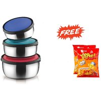 Classic Essentials Lid Bowl set of 3pcs with free two packets of Yipee maggi