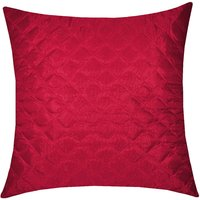 Zikrak Exim Square Quilting Cushion Cover Maroon (1 Pc)