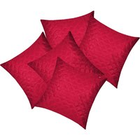 Zikrak Exim Square Quilting Cushion Cover Maroon (5 Pcs Set)