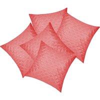 Zikrak Exim Square Quilting Cushion Cover Pink (5 Pcs Set)