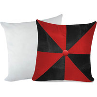 Zikrak Exim Gig Design Cushion With Filler Red & Black (2 Pcs Set)
