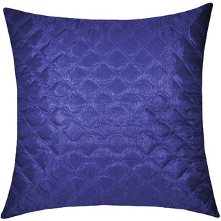 Zikrak Exim Square Quilting Cushion Cover Blue (1 Pc)