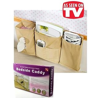 Bedside Caddy Multifunction Bed Organizer Book Remote Phone Tissue Magazines