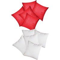 Zikrak Exim Square Quilting Cushion With Fillers Red (10 Pcs Set)