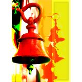 Art Printed Posters - Digital Art Of Bell