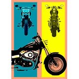 Art Printed Posters - Digital Art Of Bike