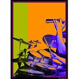 Art Printed Posters - Digital Art Of Drums