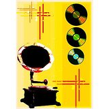 Art Printed Posters - Digital Art Of Gramophone