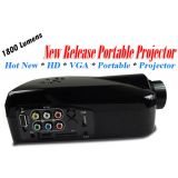 Portable HD Home Theater Multimedia LED Projector 1080P VGA HDMI USB DVD Input