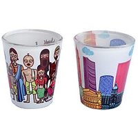 TEC Shot Glass Indian Family Mumbai Skyline