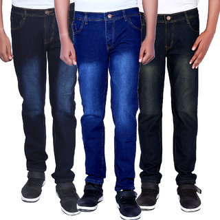 Balino London Multicolor Denim Jeans For Men (Set of 3)