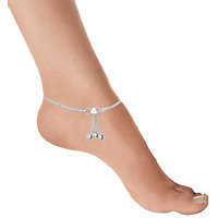 Sparkling Jewellery Pair Of Germen Silver Anklet
