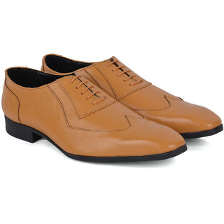 Ziraffe DARWIN Genuine Leather Camel Mens Formal Shoes