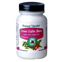 ForestHerbs Pure Green Coffee Bean Extract, 400mg 60 Capsules