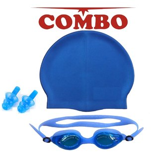 Swimming Combo Eye Cover  Cap   Ear Pin Assorted