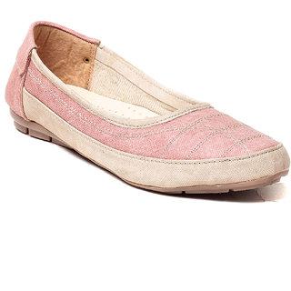 MSC Women Pink Synthetic Belly Shoe