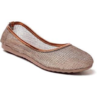 MSC Women Copper Synthetic Belly Shoe