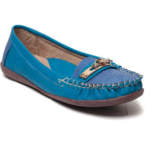MSC Women Blue Synthetic Loafer