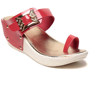 e5590dfc6 MSC Women Red Synthetic Wedge available at ShopClues for Rs.649