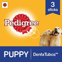 Sample Try-Me Pack Pedigree Puppy Denta Tubos (Puppy Dog - Oral Care), Chicken (7gms, Pack of 5)