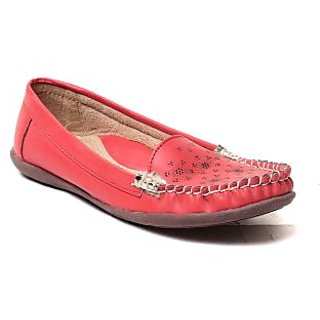 MSC Women Red Synthetic Loafer