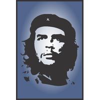 Che Guevara Navy Blue Revolution 12x18 Inches Unframed Poster