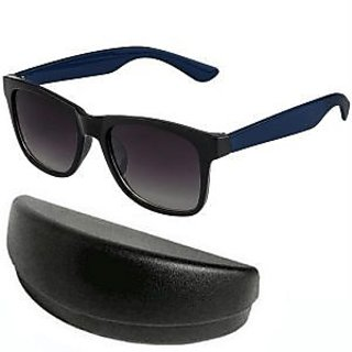 Black With Blue Wayfarer Sunglasses