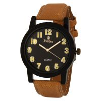 Evelyn Round Dial Yellow Fabric Strap Men Quartz Watch for Men