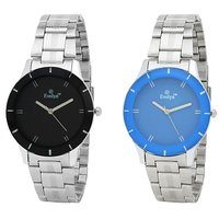 Evelyn Multicolor Round Dial Silver Metal Analog Watch For Women