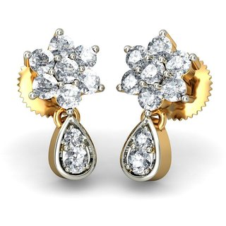 The Juvela Earrings_Diamond Earring In 18Kt Yellow Gold
