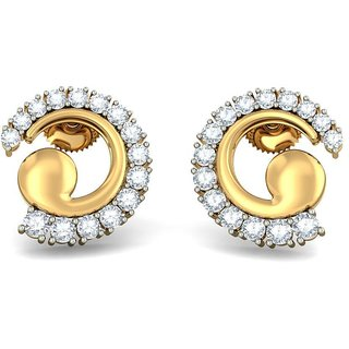 The New Beginning Earrings_Diamond Earring In 18Kt Yellow Gold